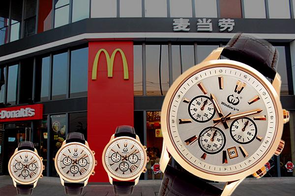 麦当劳活动礼品手表定制,稳达时手表厂家量身设计