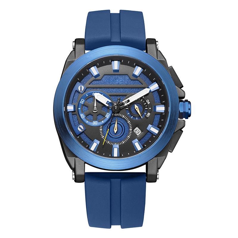 580新款男士休闲手表多功能夜光合金表石英手表厂家