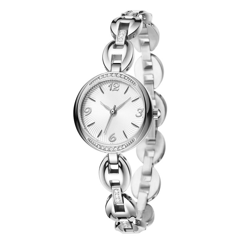 596韩版精致时尚镶钻女士手表ins风钢带石英手表厂家批发