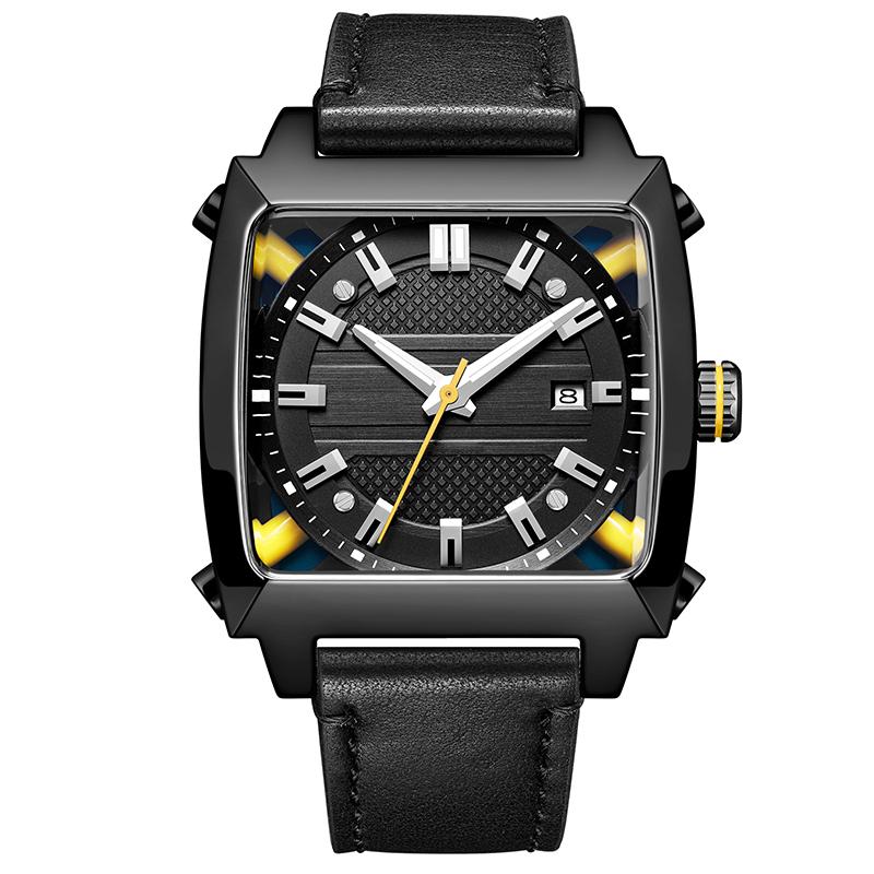 6763欧美潮流时尚方形男士全自动机械手表厂家直供