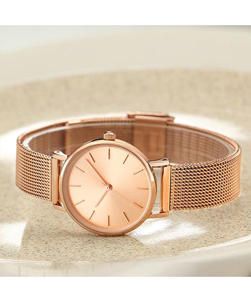 CC32北欧简约潮流女士手表精致防水网带石英手表厂家现货代工
