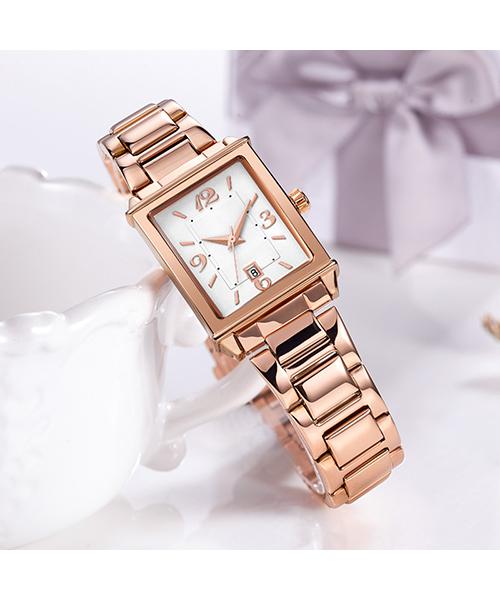1079轻复古时尚方形手表进口机芯日历女士石英手表厂家货源