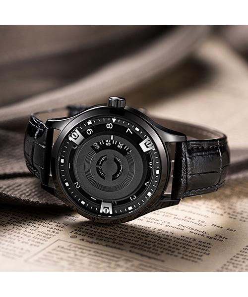 1067G无指针运动防水手表简约潮流真皮男士石英手表厂家一手货源