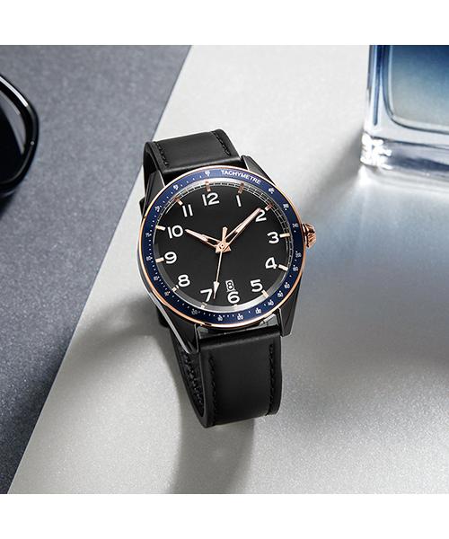 573跨境简约时尚男士夜光手表多功能日历石英手表厂家代发
